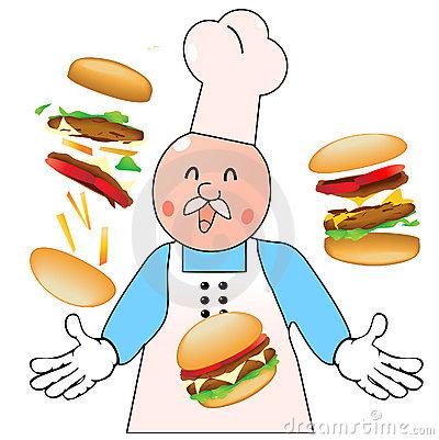 Koch bei der arbeit clipart graphic freeuse library Burger Mann Stock Illustrationen, Vektors, & Klipart – (2,307 ... graphic freeuse library