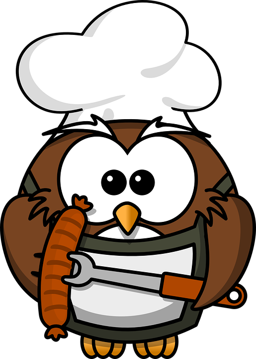 Kochen clipart clip art royalty free download Free Image on Pixabay - Owl, Animal, Barbecue, Bird, Cook clip art royalty free download