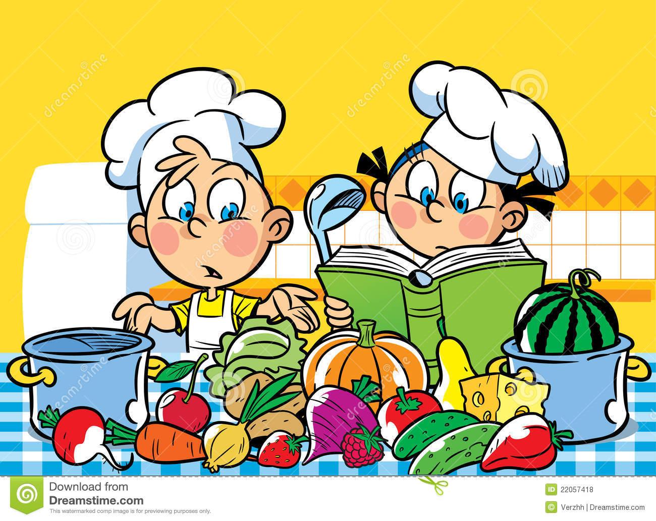 Kochen kinder clipart jpg free library Kinder Kochen Stock Illustrationen, Vektors, & Klipart – (1,785 ... jpg free library