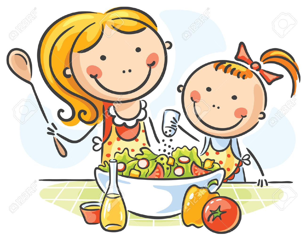 Kochen kinder clipart picture free Kind Kochen Lizenzfreie Vektorgrafiken Kaufen: 123RF picture free
