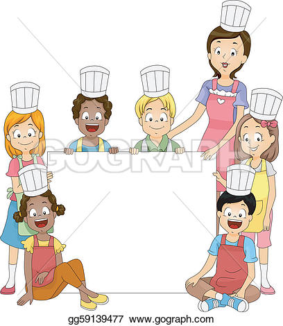 Kochen kinder clipart clipart library stock Cooking Clip Art - Royalty Free - GoGraph clipart library stock