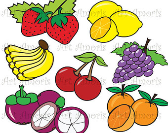 Kochen kinder clipart graphic freeuse library Healthy food clipart | Etsy graphic freeuse library