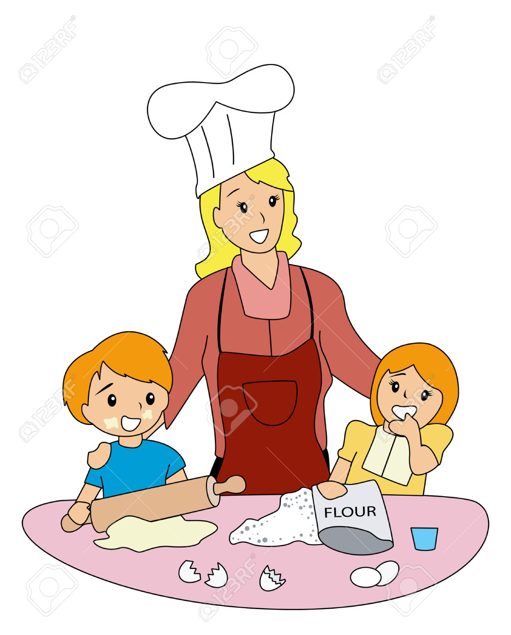 Kochen kinder clipart clipart freeuse stock Kochen und backen mit kindern clipart - ClipartFest clipart freeuse stock