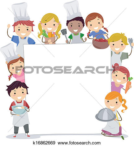 Kochen kinder clipart kostenlos png free Clip Art of Cooking Classes Board k16862669 - Search Clipart ... png free