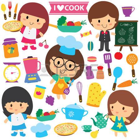 Kochen und backen mit kindern clipart svg freeuse Kind Backen Lizenzfreie Vektorgrafiken Kaufen: 123RF svg freeuse