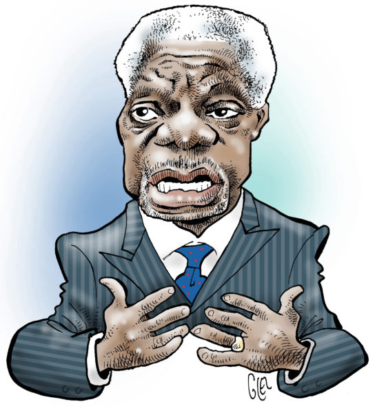Kofi annan clipart clipart transparent stock Cartoonists from around the world pay tribute to Kofi Annan ... clipart transparent stock