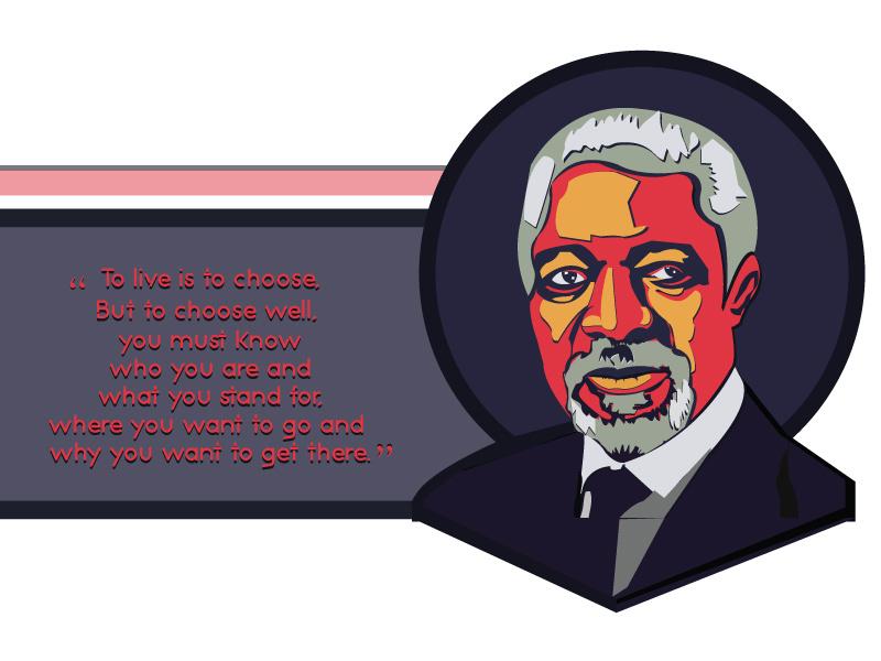 Kofi annan clipart clipart freeuse download Kofi Annan by Sharmin akter Taieba on Dribbble clipart freeuse download