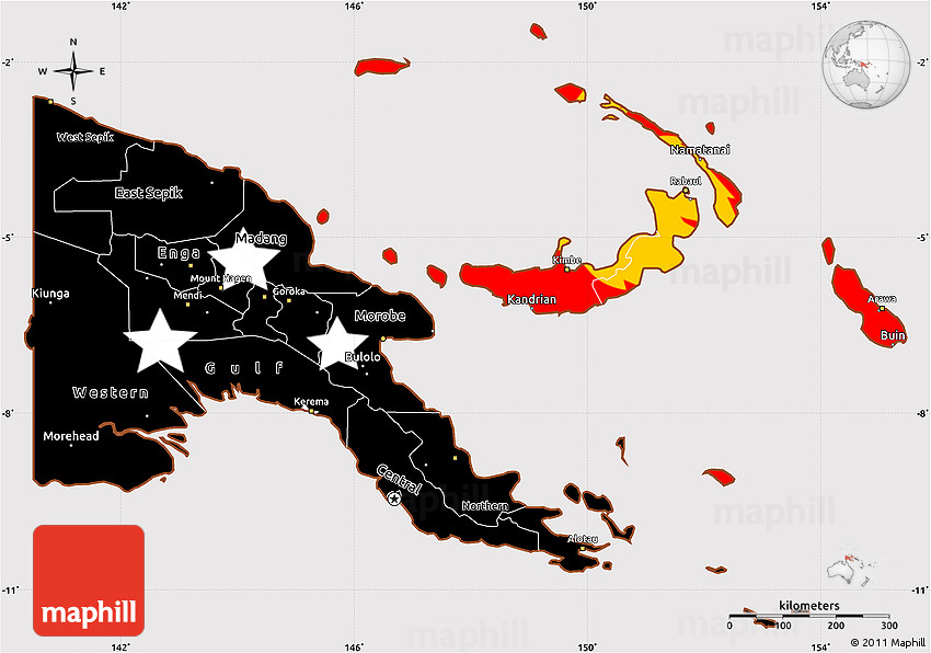 Kokopo clipart map clipart royalty free stock Flag Simple Map of Papua New Guinea clipart royalty free stock