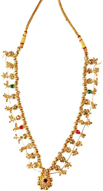 Kolhapuri saaj price clipart jpg library stock Soubhagya Jewellers Combo Kolhapuri 12 Panadi Saaj Black Gunda Thushi jpg library stock