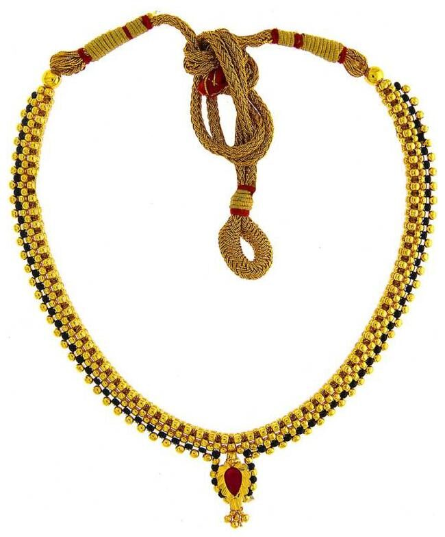Kolhapuri saaj price clipart clipart freeuse download Parna Traditional Ethnic Maharashtrian Jewellery Kolhapuri Saaj Gold Beads  Thushi Necklace for Women clipart freeuse download