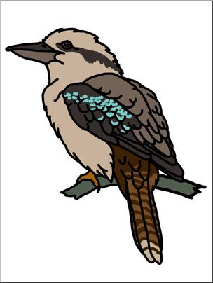 Kookaburra clipart free clip library stock Clip Art: Kookaburra B&W I abcteach.com | abcteach clip library stock