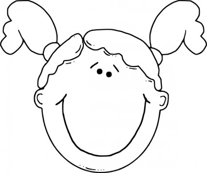 Kopf kind clipart graphic black and white Face Clipart - Clipartion.com graphic black and white