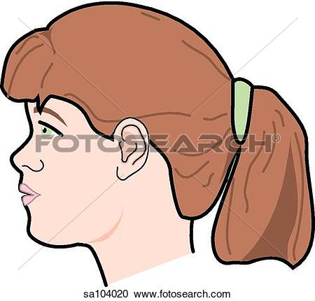 Kopf kind clipart vector library Clipart of Lateral view of the external anatomy of a child (arm ... vector library
