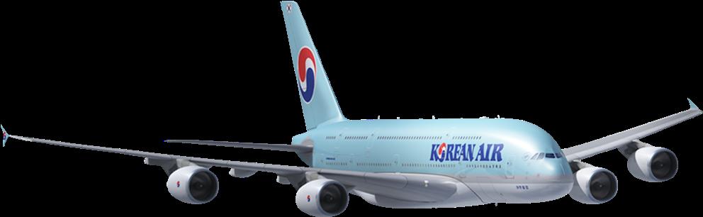 Korean air clipart banner freeuse HD Airbus A380-800 - Korean Air Plane A380 Transparent PNG Image ... banner freeuse