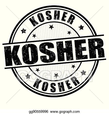 Kosher logo clipart clip royalty free Vector Art - Kosher sign or stamp. Clipart Drawing gg90559996 - GoGraph clip royalty free