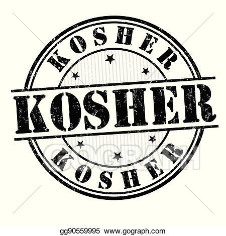 Kosher logo clipart banner black and white Vector Art - Kosher sign or stamp. Clipart Drawing gg90559995 - GoGraph banner black and white