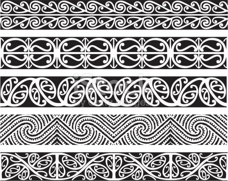 Kowhaiwhai patterns clipart image free stock Kowhaiwhai Designs stock vector art 165977717 | iStock image free stock