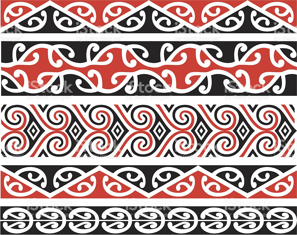 Kowhaiwhai patterns clipart jpg transparent library Kowhaiwhai Designs In Color stock vector art 166007868 | iStock jpg transparent library