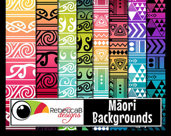 Kowhaiwhai patterns clipart black and white library Maori pattern | Etsy black and white library