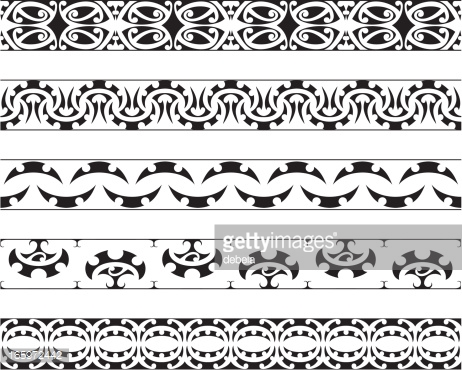 Kowhaiwhai patterns clipart jpg black and white Kowhaiwhai Patterns Vector Art | Getty Images jpg black and white