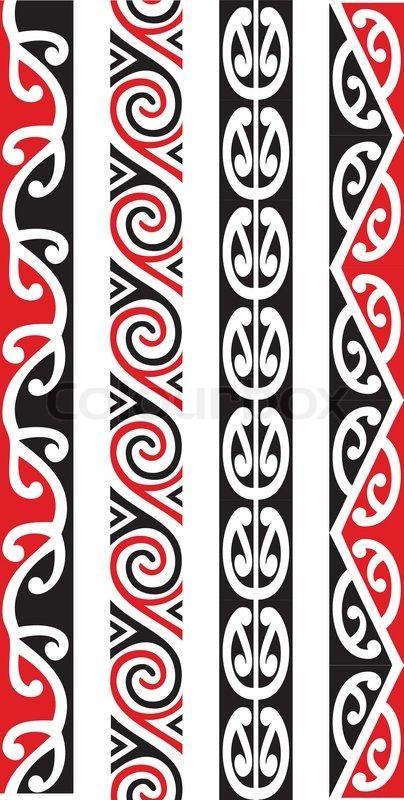 Kowhaiwhai patterns clipart freeuse library Stock vector of 'Four seamless Maori Kowhaiwhai patterns.' | art ... freeuse library