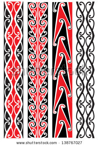 Kowhaiwhai patterns clipart vector black and white download Kowhaiwhai Patterns Stock Vector 151532972 - Shutterstock vector black and white download
