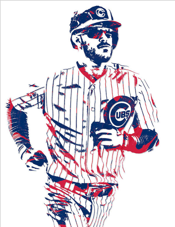 Kris bryant clipart image freeuse Kris Bryant Chicago Cubs Pixel Art 11 Poster image freeuse
