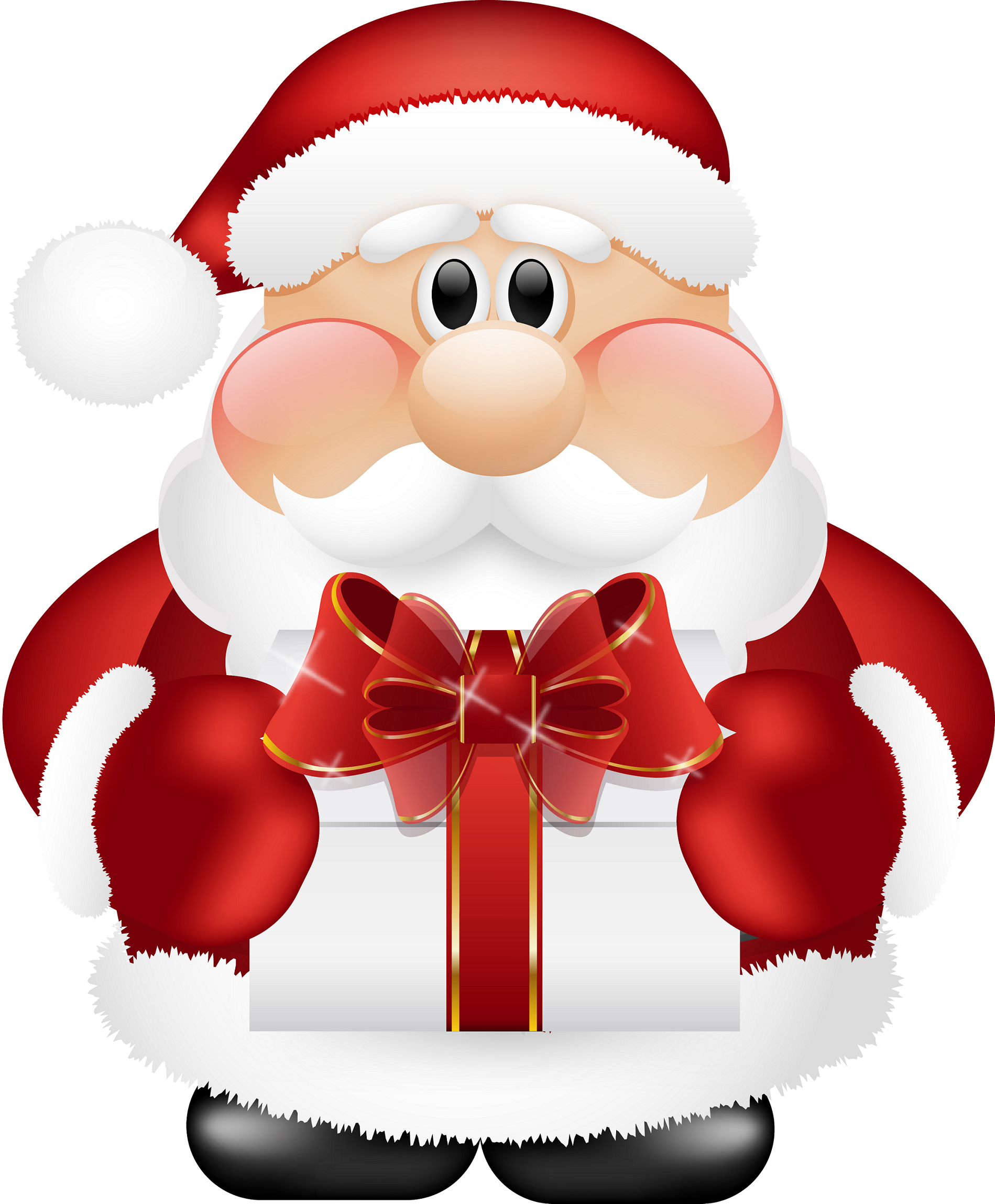 Kris kringle clipart black and white What Did Santa Claus Bring For You On Christmas Eve? | Kris Kringle ... black and white