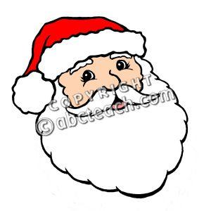 Kris kringle clipart clipart free Santa Face Clip Art (Color) - Christmas Illustration - Kris Kringle ... clipart free