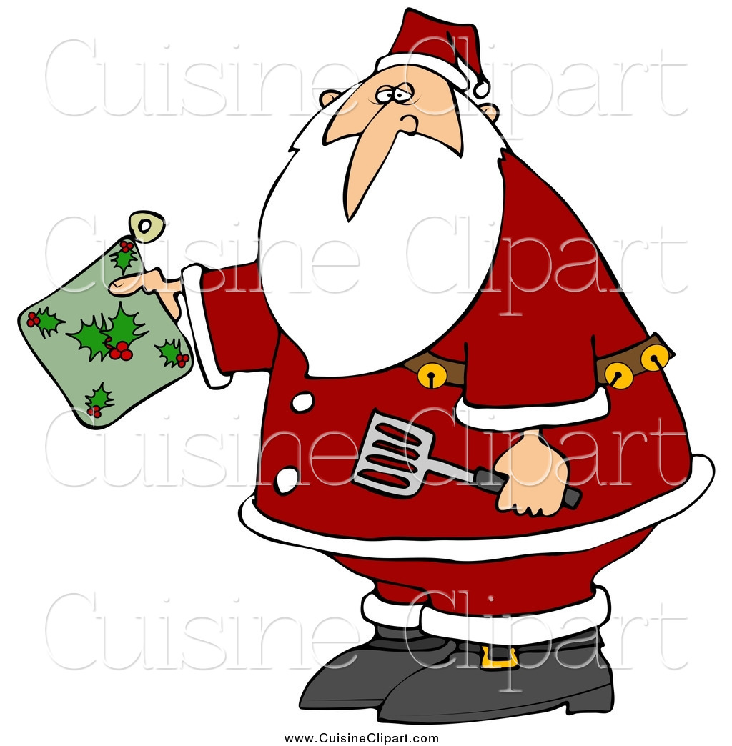 Kris kringle clipart graphic royalty free Royalty Free Kris Kringle Stock Cuisine Designs graphic royalty free