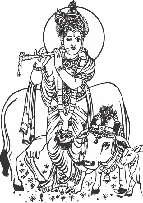 Krishna image clipart vector freeuse download 22+ Lord Krishna Clipart   ClipartLook vector freeuse download