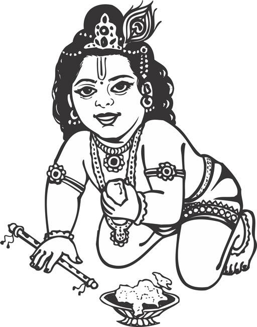 Sri krishna clipart