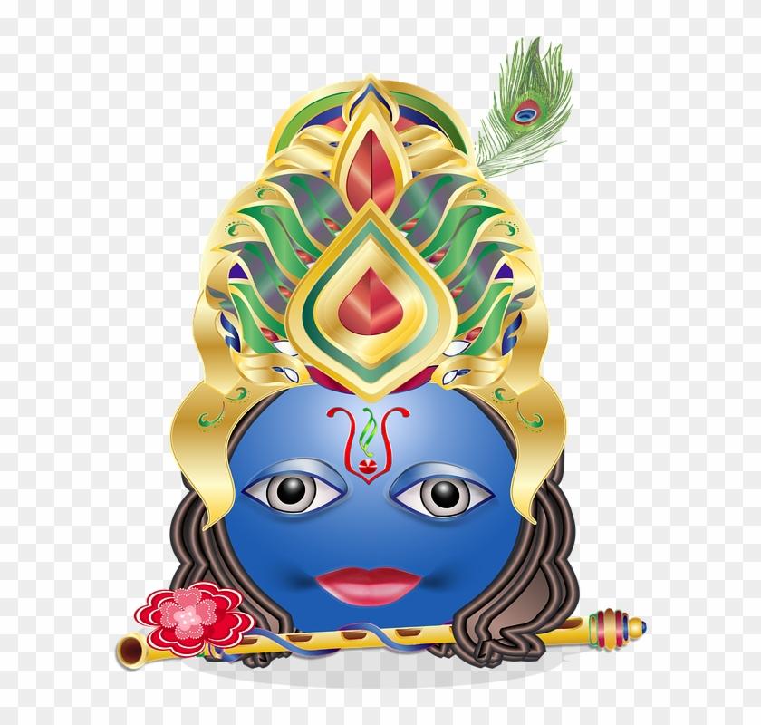 Krishna mukut clipart clipart freeuse library Krishna Clipart Gambar - Hindu Gods Emojis, HD Png Download ... clipart freeuse library