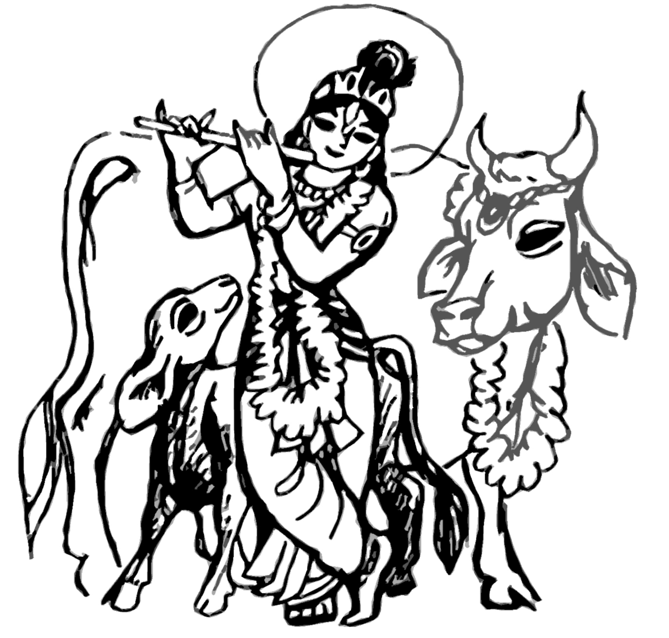 Krishna with cow clipart clip art free stock What is Cow Protection? clip art free stock