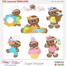 Kristi w designs layered clipart gingerbread men vector royalty free library Sugar Ginger Shoppe Layered Element Templates cudigitals.com clipart ... vector royalty free library