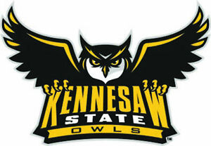 Ksu logo clipart picture freeuse Details about KSU Kennesaw State Owls Large Logo Cornhole Decals / Set of 2 picture freeuse