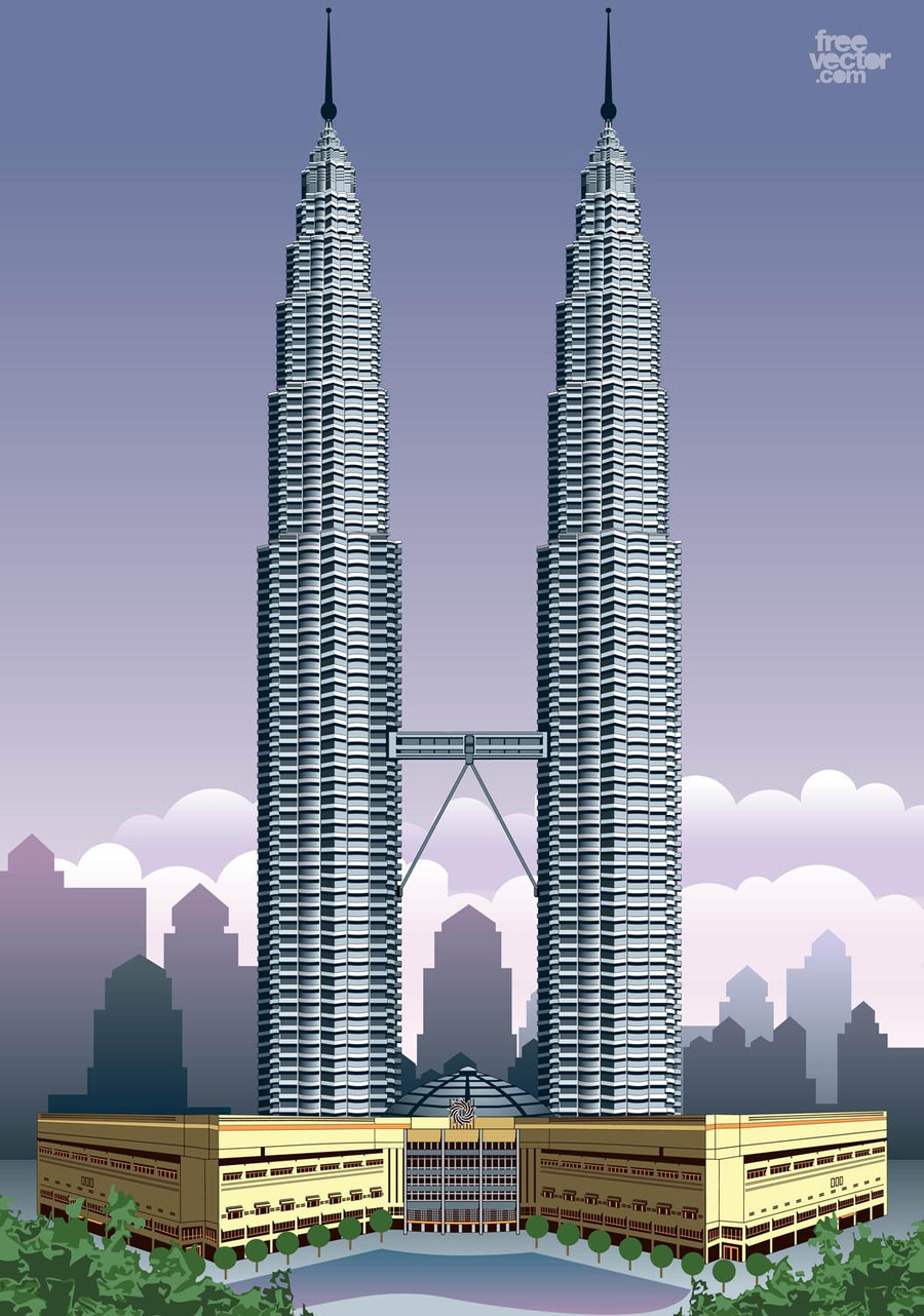 Kuala lumpur clipart vector freeuse stock Download petronas towers vector clipart Petronas Towers Kuala Lumpur ... vector freeuse stock