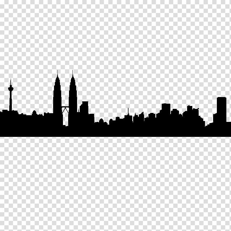 Kuala lumpur clipart banner transparent stock Kuala Lumpur Skyline Silhouette Tokyo, kuala transparent background ... banner transparent stock