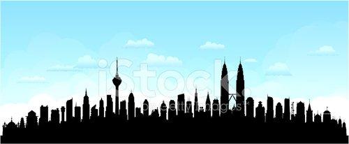 Kuala lumpur clipart image freeuse download Kuala Lumpur, Malaysia (buildings Are Detailed, Moveable and Com ... image freeuse download