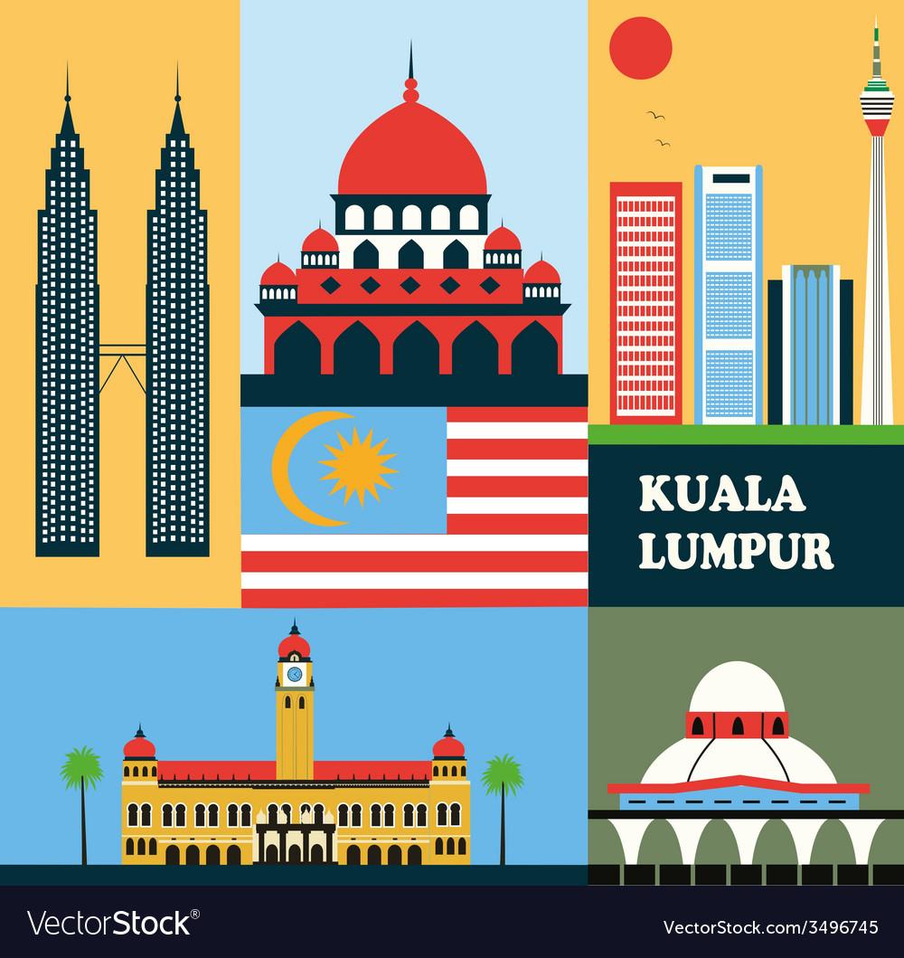 Kuala lumpur clipart svg Symbols of Kuala Lumpur svg