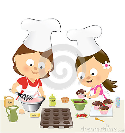 Kuchen backen clipart library Woman Holding Cupcake Stock Illustrations – 102 Woman Holding ... library
