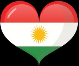Kurdistan clipart jpg transparent Kurdistan Heart Flag Clipart | i2Clipart - Royalty Free Public ... jpg transparent