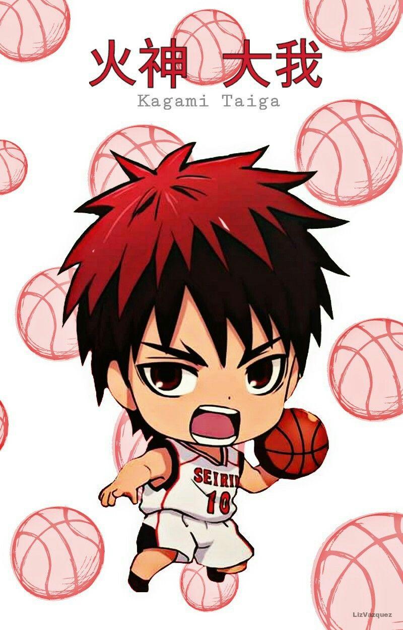 Kuroko no basuke clipart picture transparent Kuroko no Basket} Kagami Taiga, Chibi, Seirin Uniform | Boys ... picture transparent