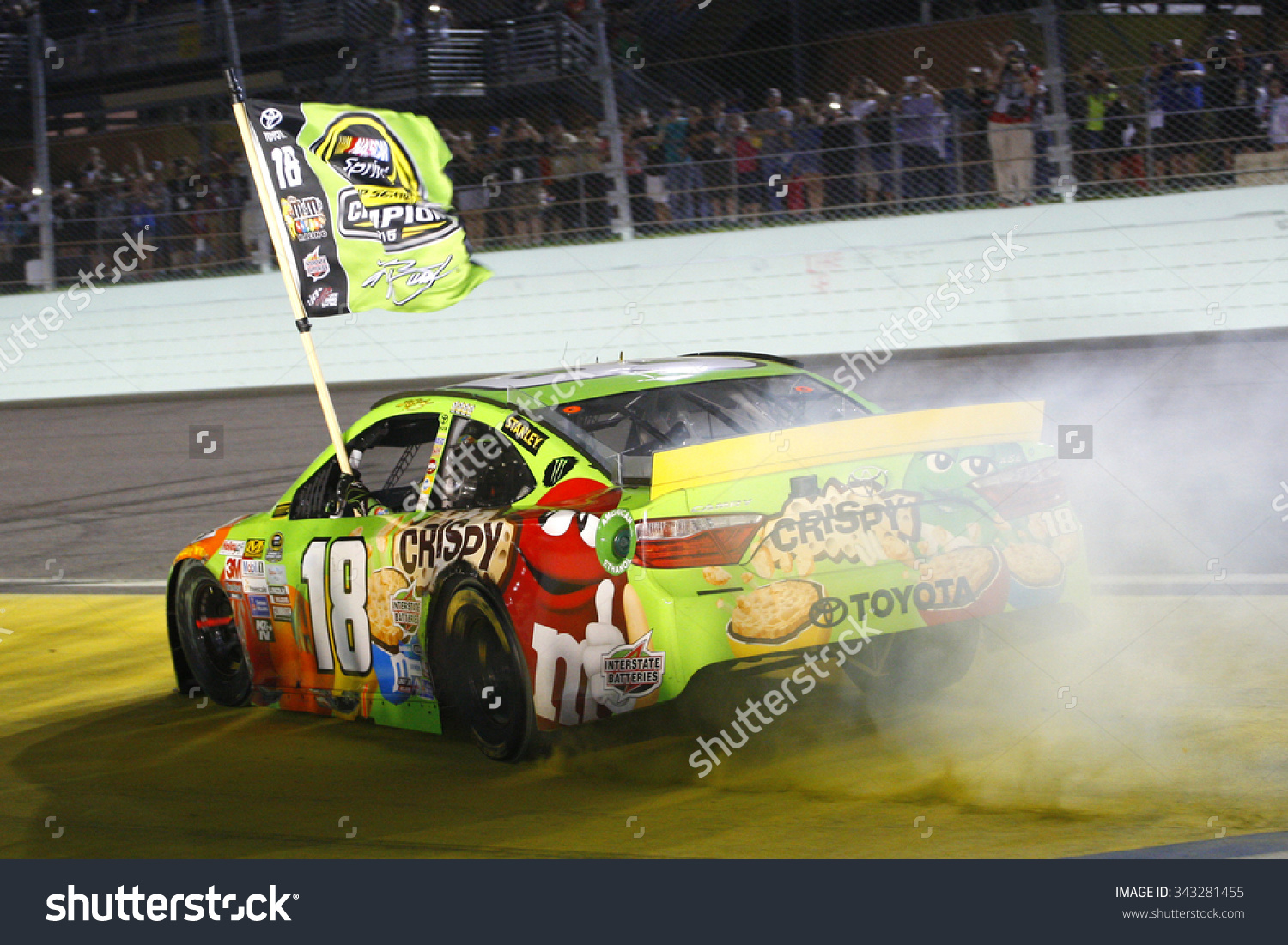 Kyle busch clipart banner freeuse Homestead, Fl - Nov 23, 2015: Kyle Busch (18) Wins The 2015 Nascar ... banner freeuse