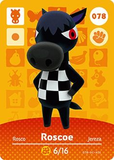 Kyle home character clipart clip black and white library Nintendo Animal Crossing Happy Home Design Kyle Amiibo Card 024 ... clip black and white library