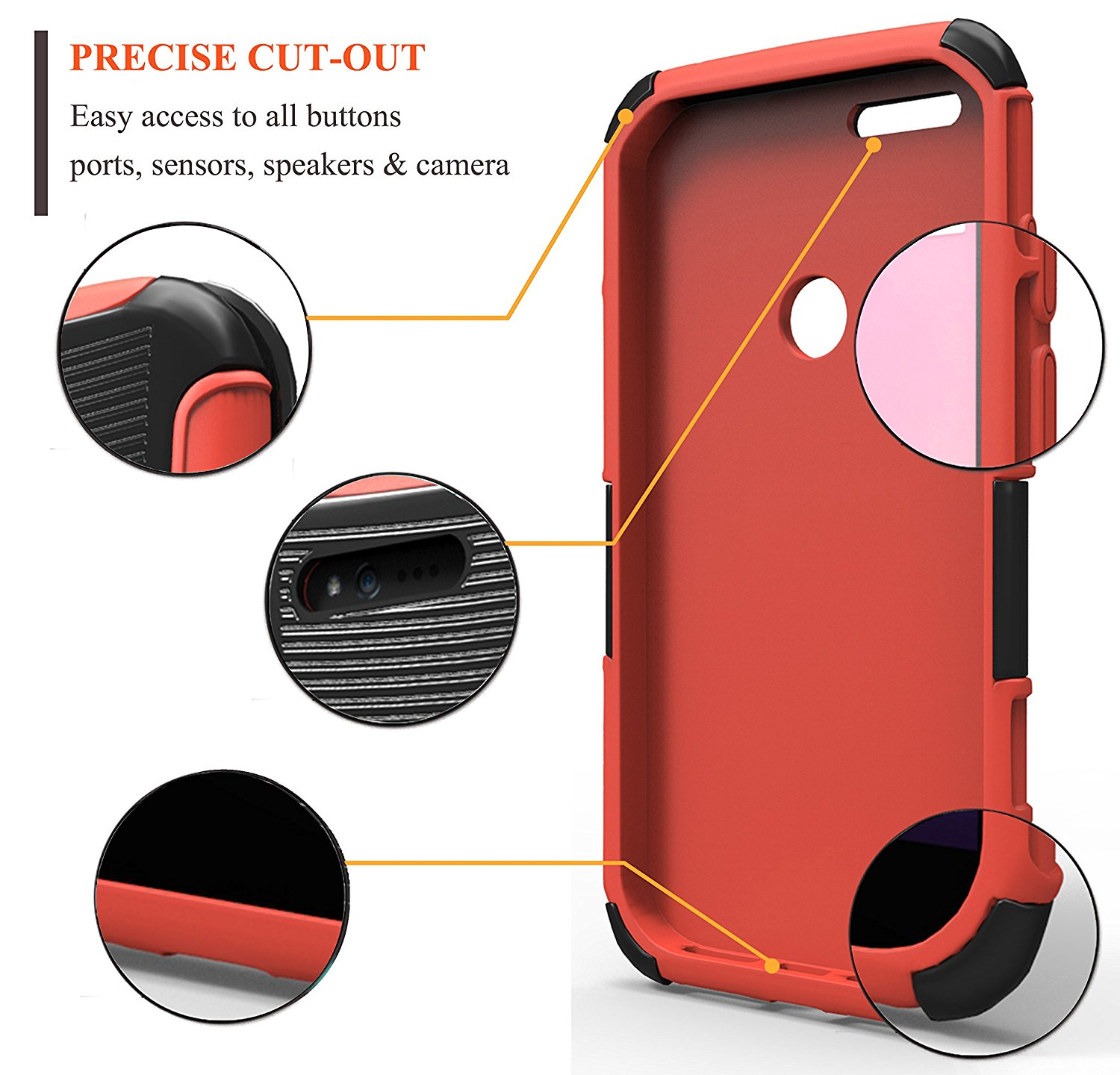 Kyocera hydro clipart case jpg transparent download Google Pixel XL Holster Combo with Belt Clip – Red | Nagebee Phone ... jpg transparent download