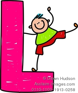 L clipart images svg royalty free stock A Happy Little Boy Climbing Over A Giant Letter L Clipart Image svg royalty free stock