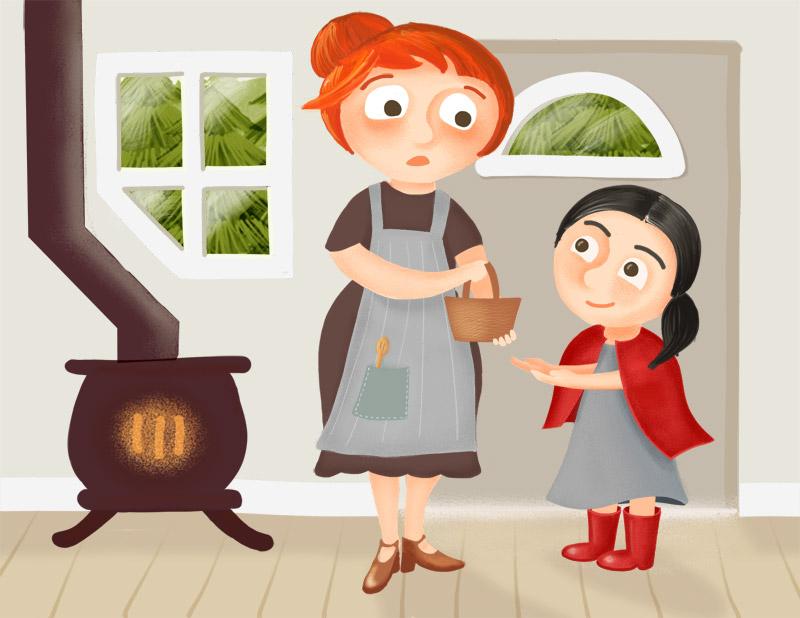 La abuela clipart graphic free download Caperucita Roja: Little Red Riding Hood in Spanish + Audio graphic free download