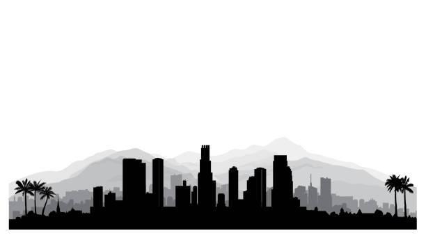 La clipart png black and white La skyline clipart 1 » Clipart Portal png black and white