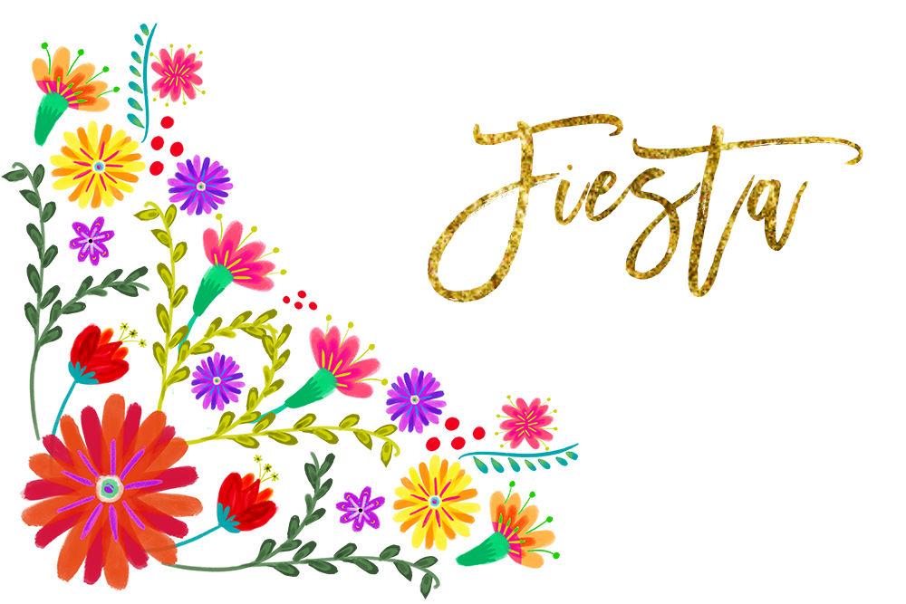 La fiesta clipart svg download Mexican Watercolor Floral clipart, flowers fiesta clip art, cinco de ... svg download